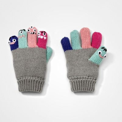 Toddler Girls' Finger Critter Gloves Cat & Jack™ - Pink