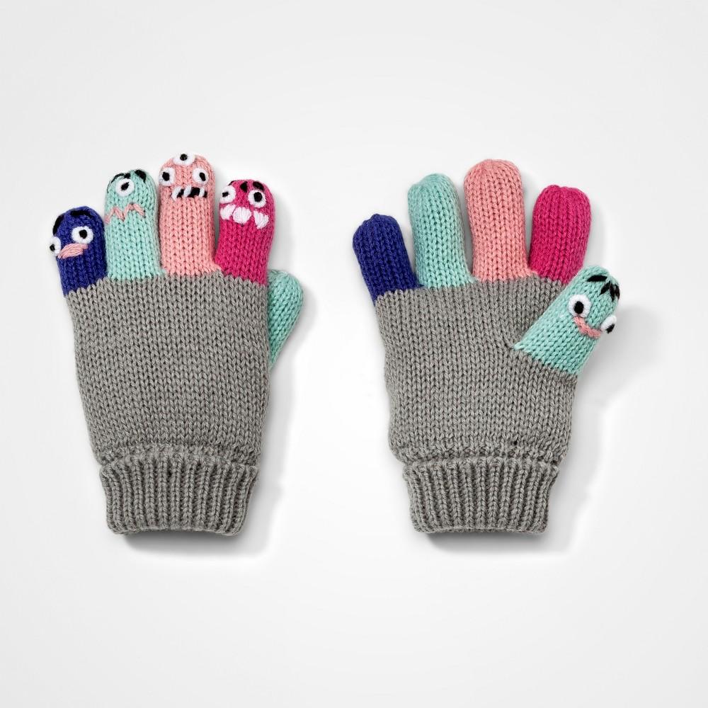 Toddler Girls Finger Critter Gloves Cat & Jack - Pink