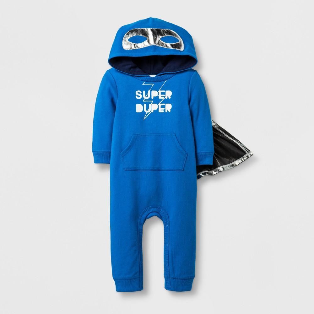 Baby Boys Super Duper Romper - Cat & Jack Blue 3-6 Months, Size: 3-6 M