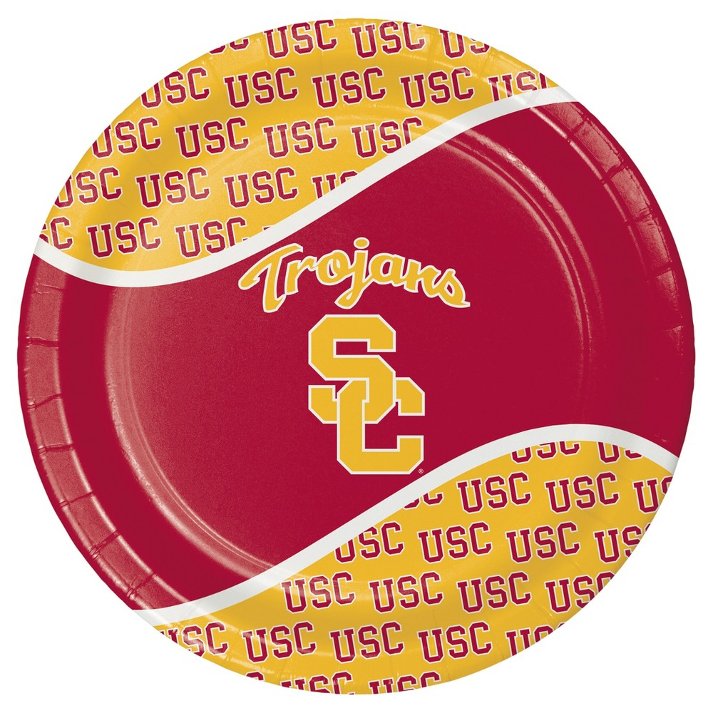 8ct University of Southern California Usc Trojans Paper Plates