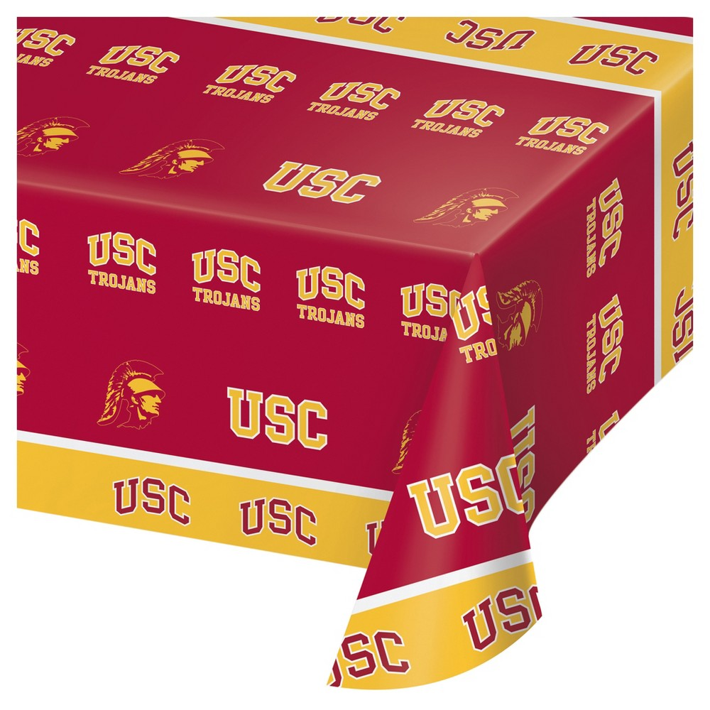 University of Southern California Usc Trojans Plastic Tablecloth