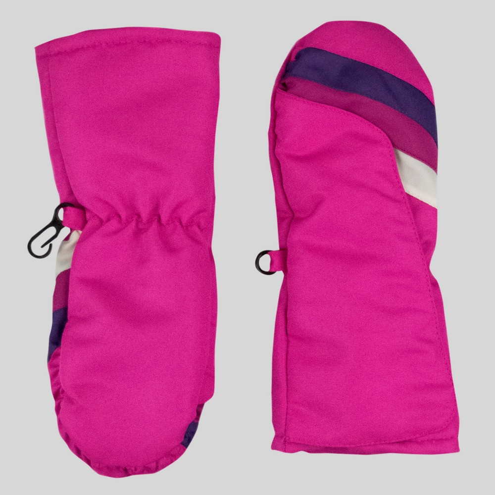 Toddler Girls Stripe Mittens - Cat & Jack Pink One Size