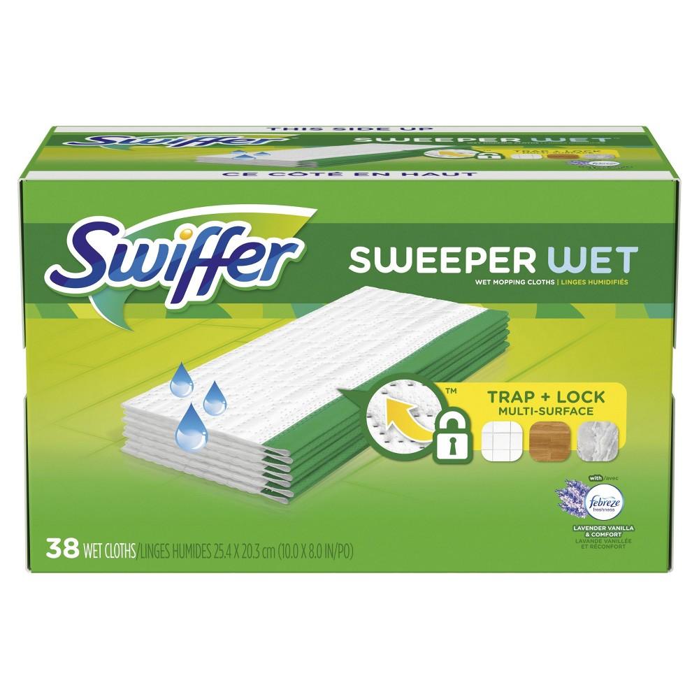 Swiffer Sweeper Wet Refills with Febreze Lavender Vanilla...