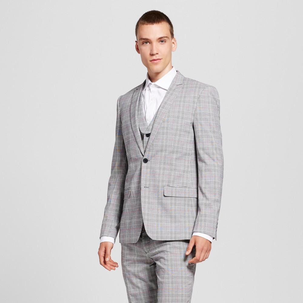 Wd·ny Black - Mens Glenn Plaid Jacket - Oxford XL