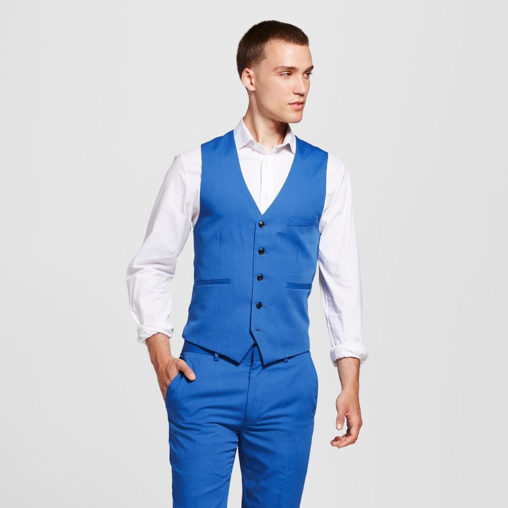 Wd·ny Black - Mens Bright Cobalt Blue Vest - Blue S