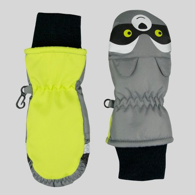 Baby Boys' Raccoon Mittens - Cat & Jack™ Gray One Size