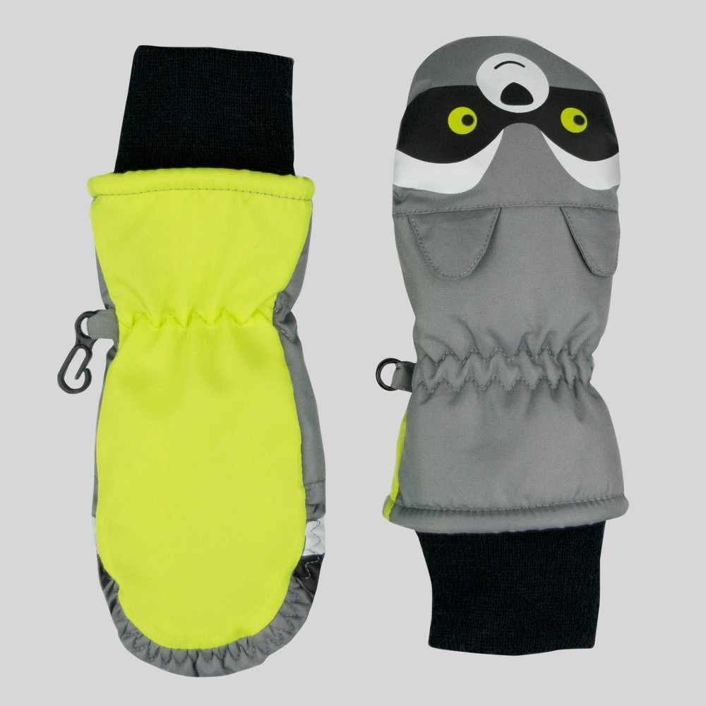 Baby Boys Raccoon Mittens - Cat & Jack Gray One Size