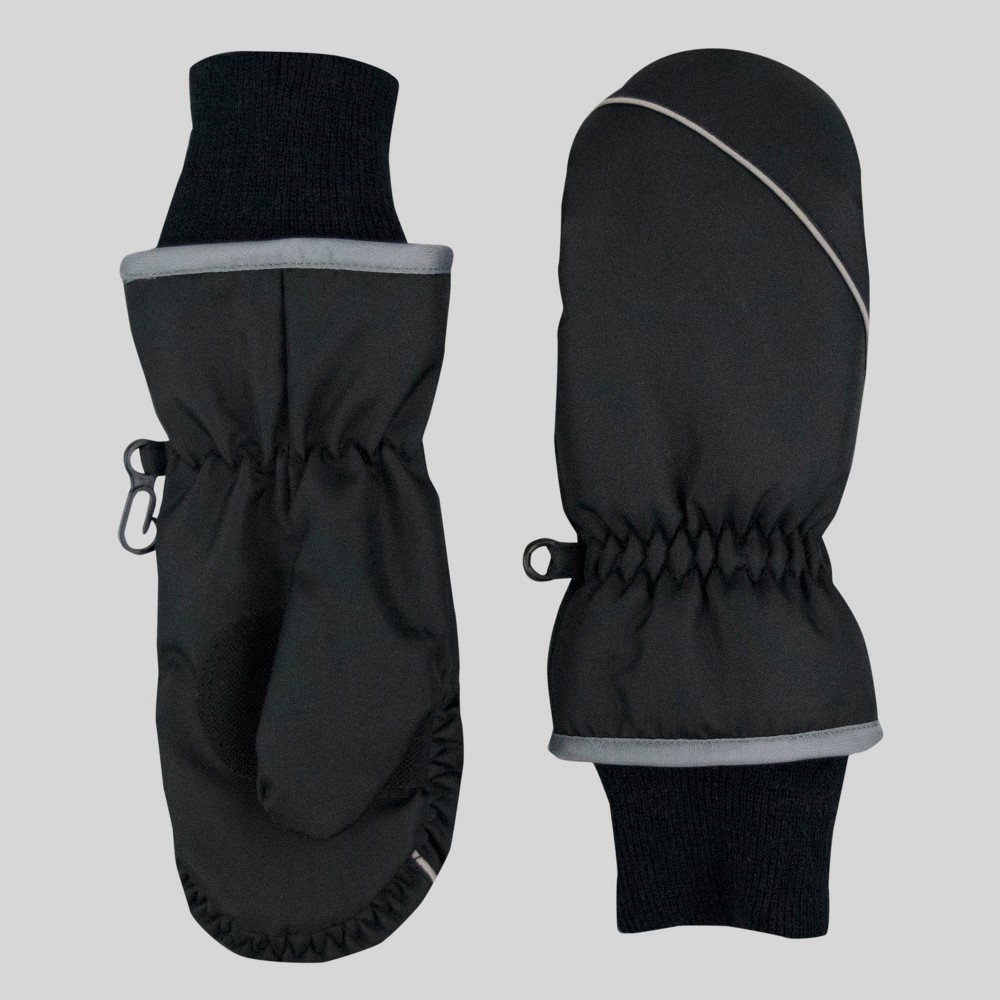 Toddler Boys Reflective Mittens - Cat & Jack Black One Size