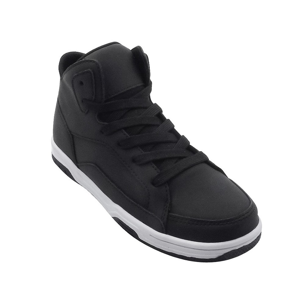 Boys Nelson Uniform High Top Skate Sneakers - Cat & Jack Black 1