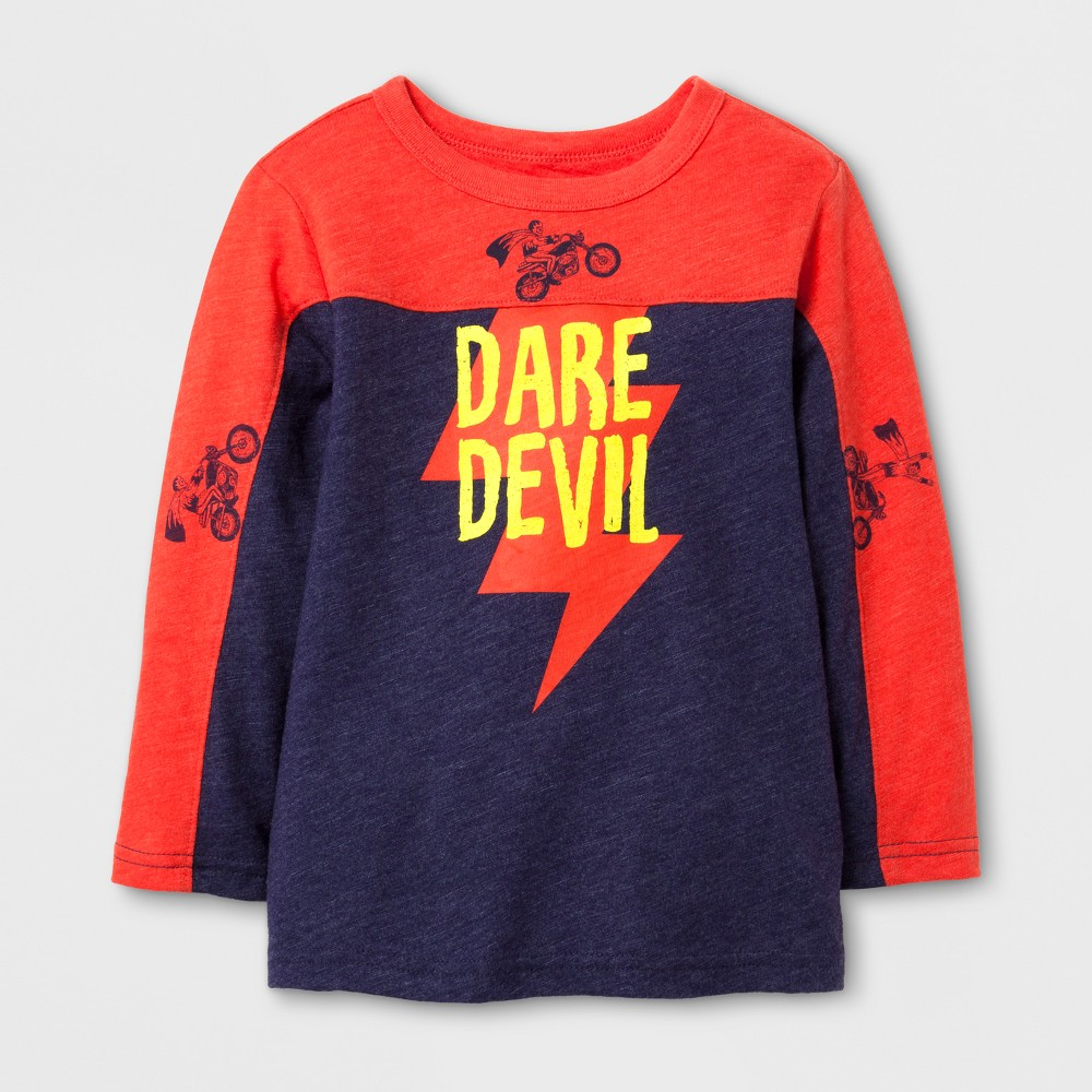 Toddler Boys Dare Devil Graphic T-Shirt - Cat & Jack Blue 4T