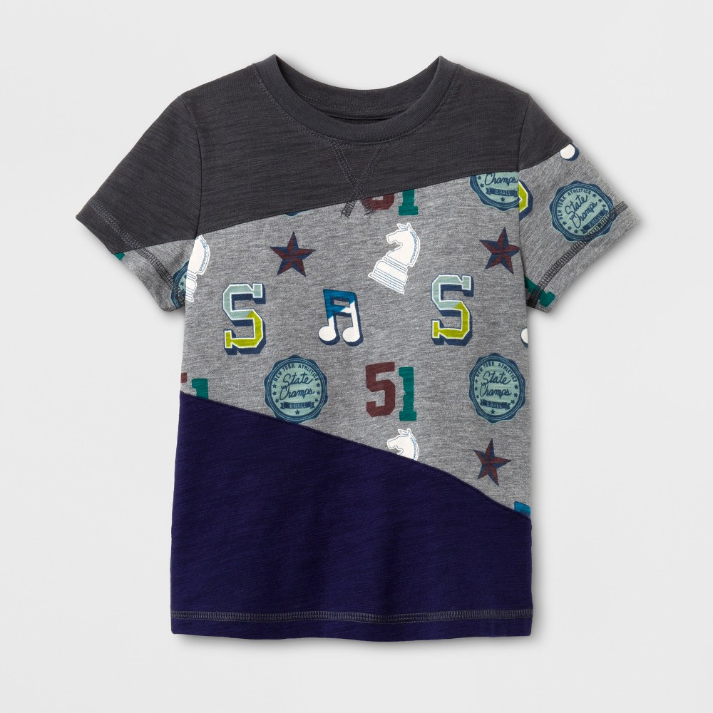 Toddler Boys Graphic T-Shirt - Cat & Jack Charcoal 18M, Size: 18 M, Gray