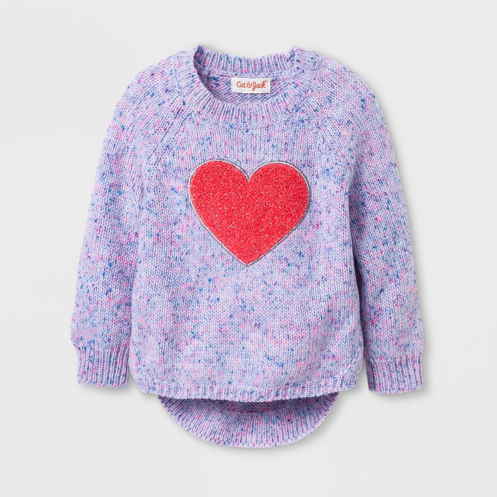Toddler Girls Crew Neck Pullover - Cat & Jack Pink 18M, Size: 18 M