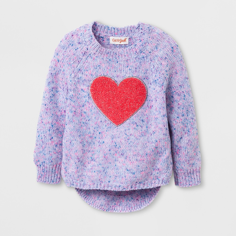 Toddler Girls' Crew Neck Pullover Cat & Jack - Pink 2T