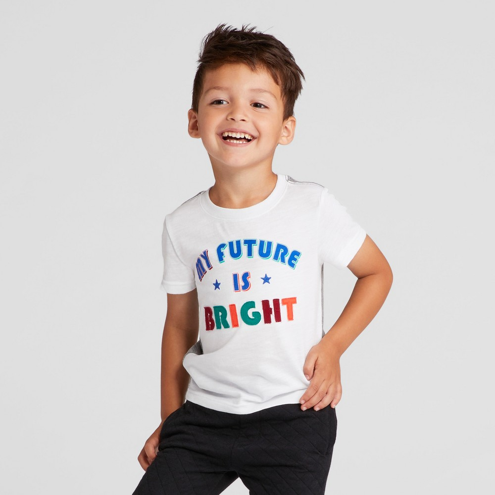 Toddler Boys Future Is Bright Graphic T-Shirt - Cat & Jack White 3T