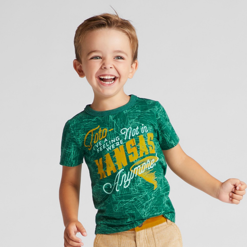 Toddler Boys T-Shirt - Genuine Kids from OshKosh Green 12M, Size: 12 M