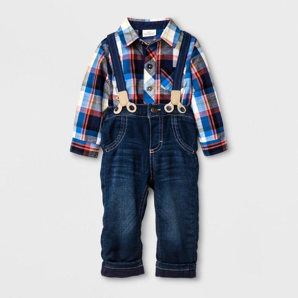 Baby Boys Activewear Coordinate Sets - Cat & Jack Ebony, Size: 12 Months, Black
