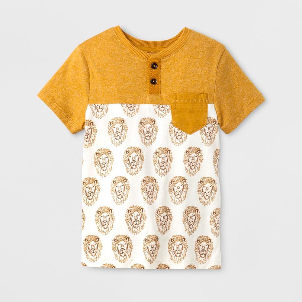 Toddler Boys Henley Shirt Genuine Kids from OshKosh Yellow 3T