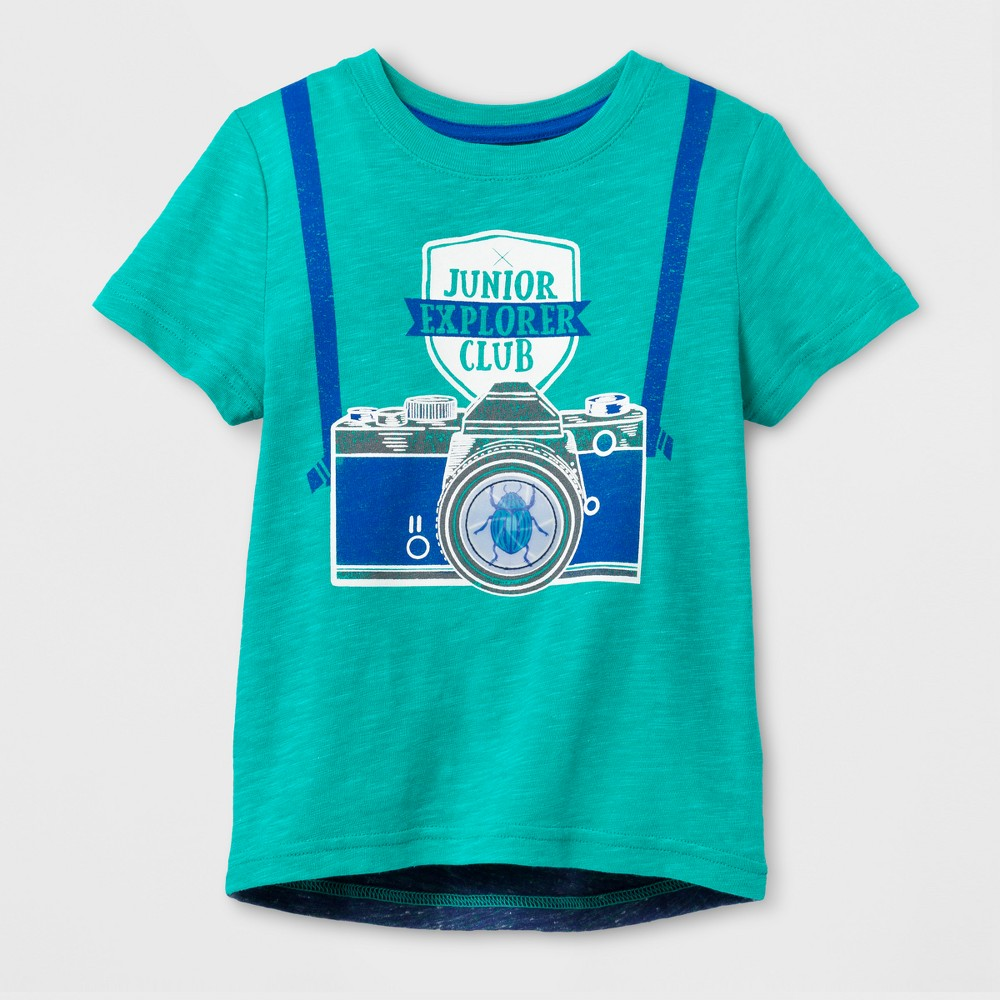 Toddler Boys Explorer Graphic T-Shirt - Cat & Jack Green 2T