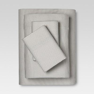 Flannel Sheet Set (Full)Gray Stripe - Threshold™