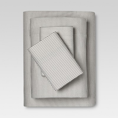 Flannel Sheet Set (Queen)Gray Stripe - Threshold™