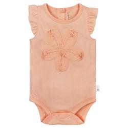 Burt's Bees Baby® Girls' Frilly Flower Bodysuit - Orange