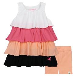 Burt's Bees Baby® Girls' Colorblock Ruffle Dress & Bike Shorts Set