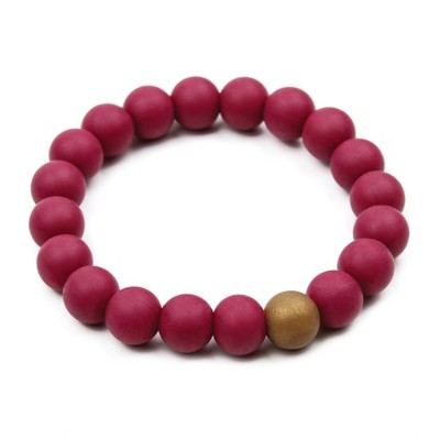 Bumkins Nixi Briesa Bracelet Teether - Bordeaux