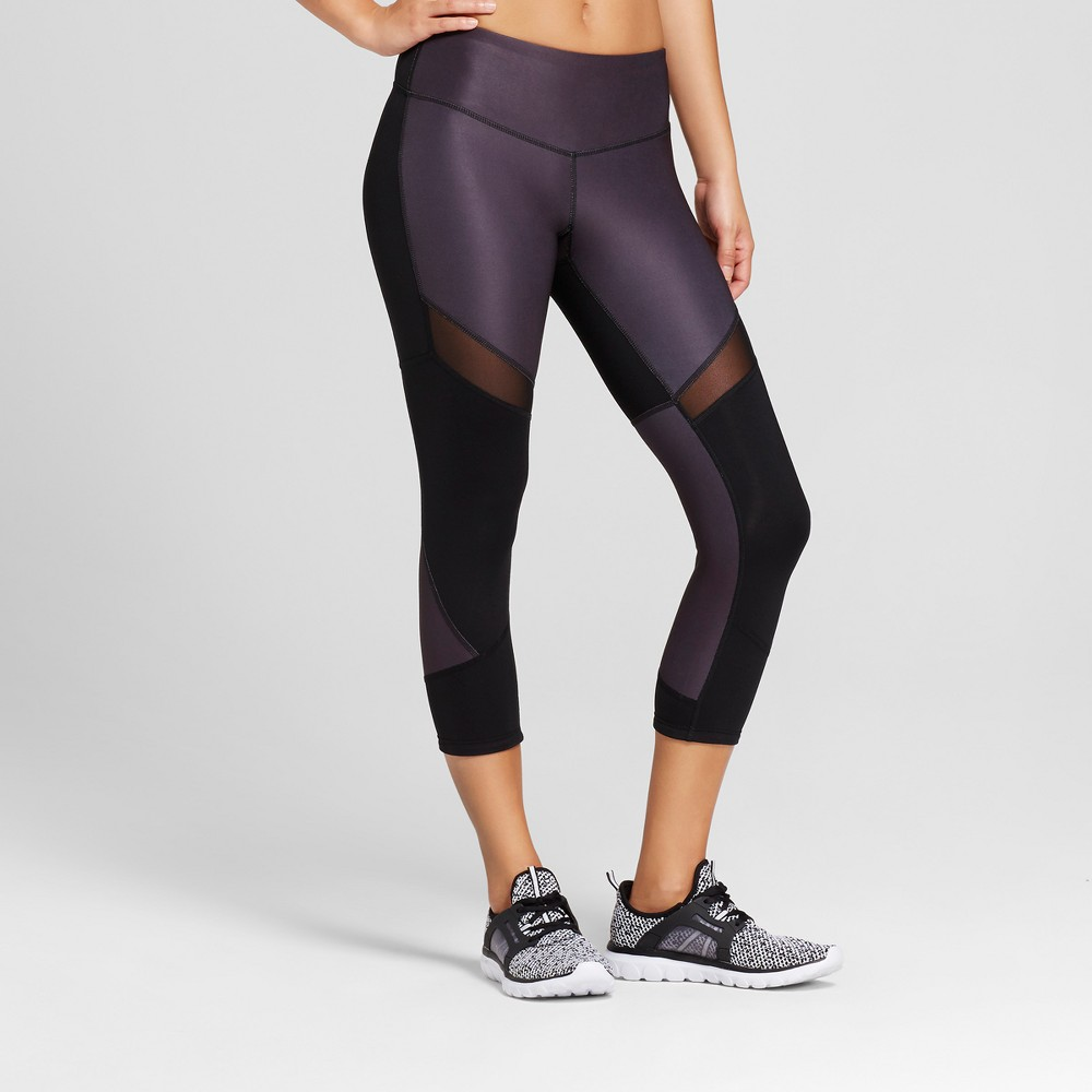 Women's Reversible Embrace Marble Print-to-Solid Leggings - C9 Champion Gray/Marble Print M