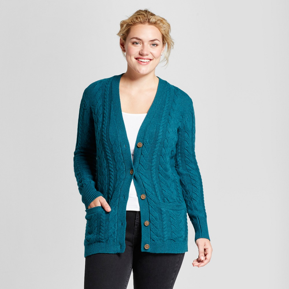 Womens Oversized Cardigan - A New Day Green XS