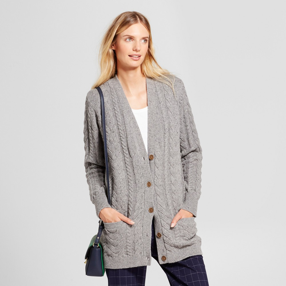 Womens Oversized Cardigan - A New Day Gray XL