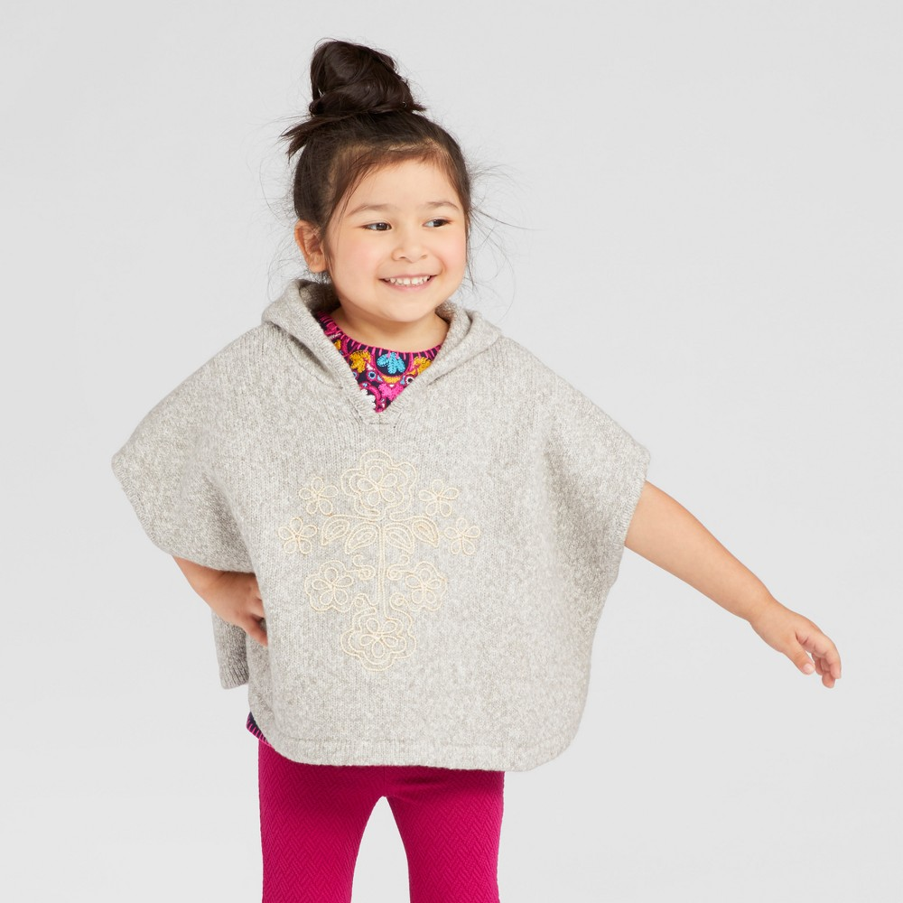 Toddler Girls Poncho Sweater - Genuine Kids from OshKosh Heather Gray 5T