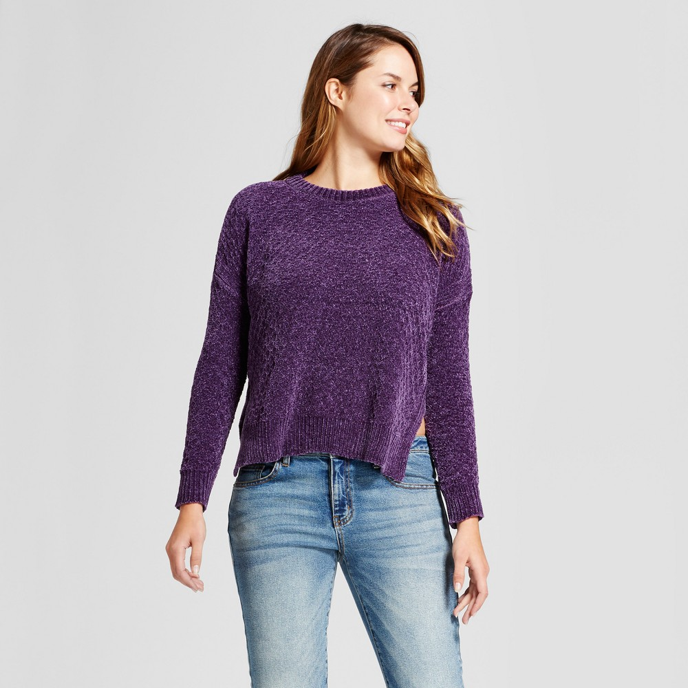 Womens Chenille Any Day Pullover - A New Day Violet (Purple) XS