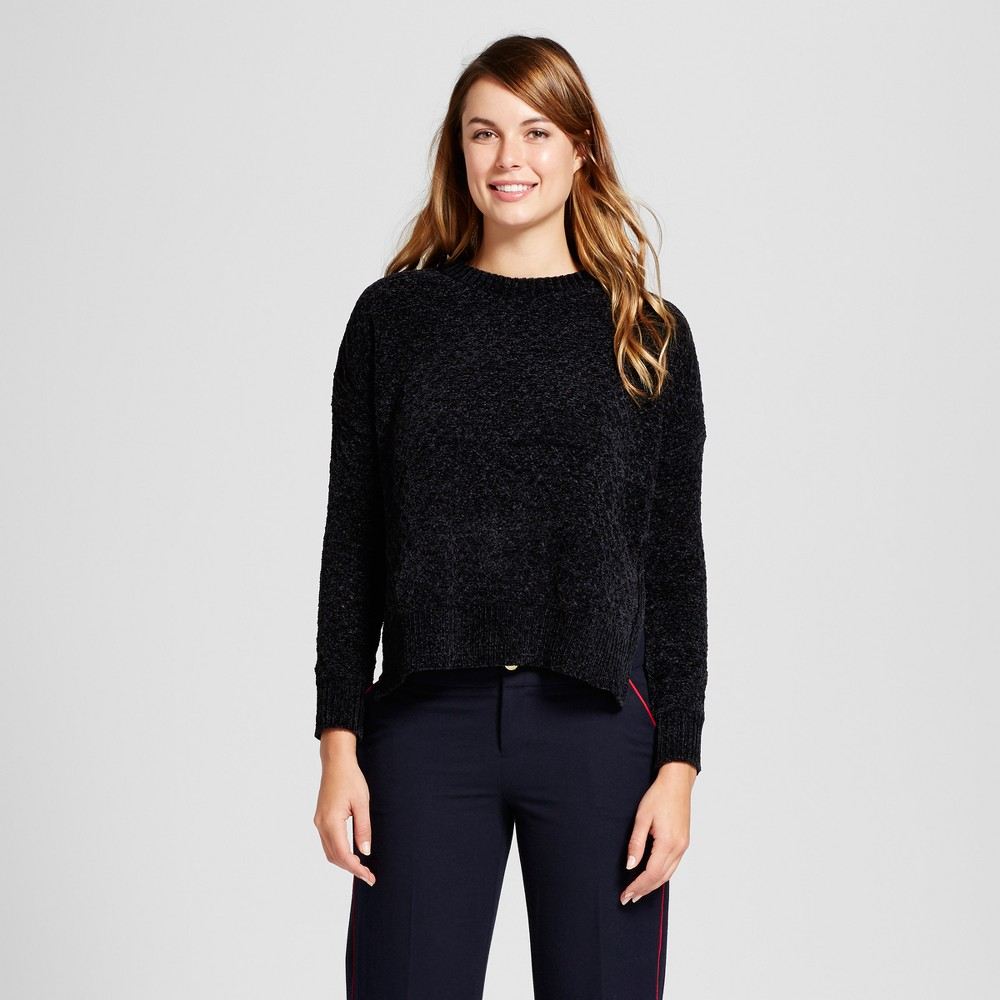 Womens Chenille Any Day Pullover - A New Day Black XL