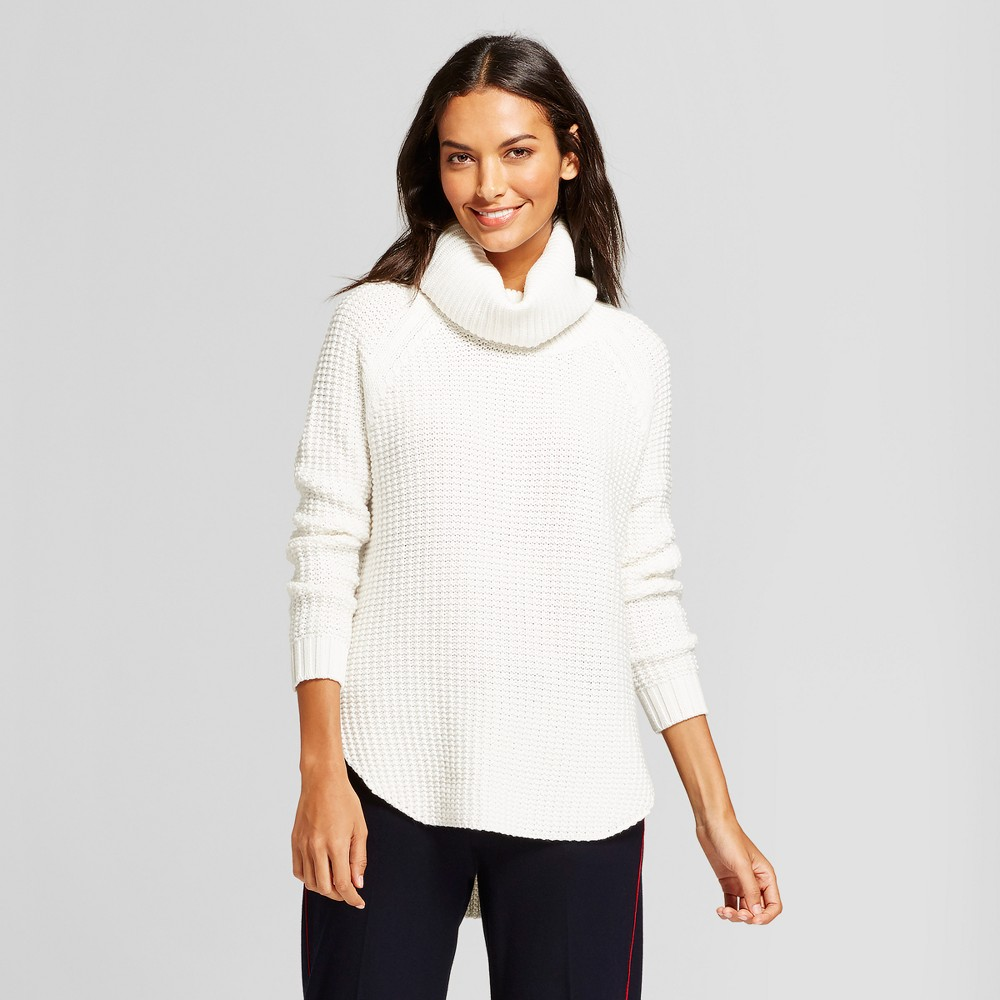 Womens Chunky Cowlneck Tunic - A New Day Cream (Ivory) M