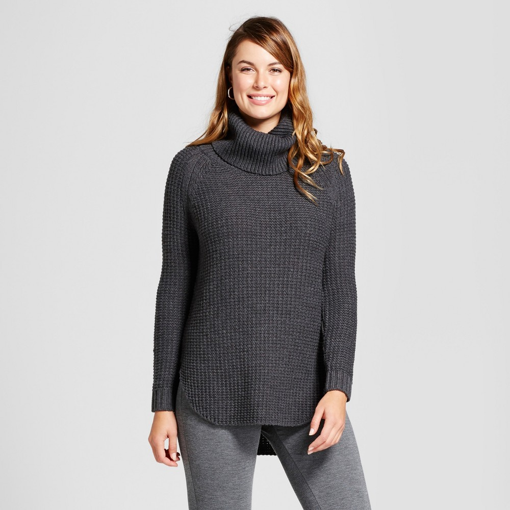 Womens Chunky Cowlneck Tunic - A New Day Charcoal (Grey) S