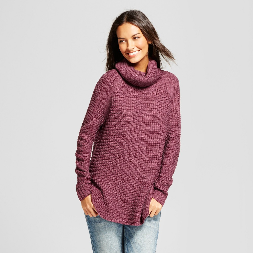 Womens Chunky Cowlneck Tunic - A New Day Purple XS