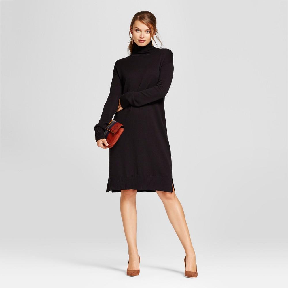 Womens Turtleneck Sweater Dress - A New Day Black Xxl