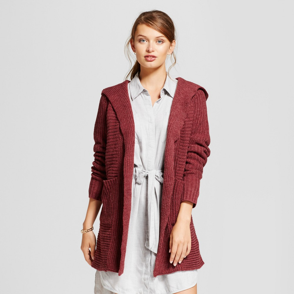 Womens Car Coat - A New Day Burgundy (Red) L