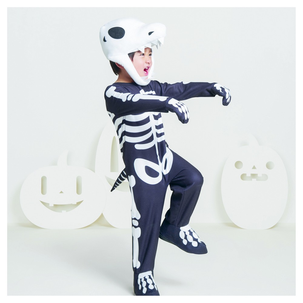 Toddler Boys T-Rex Skeleton Costume 4T-5T - Hyde and Eek! Boutique, Black