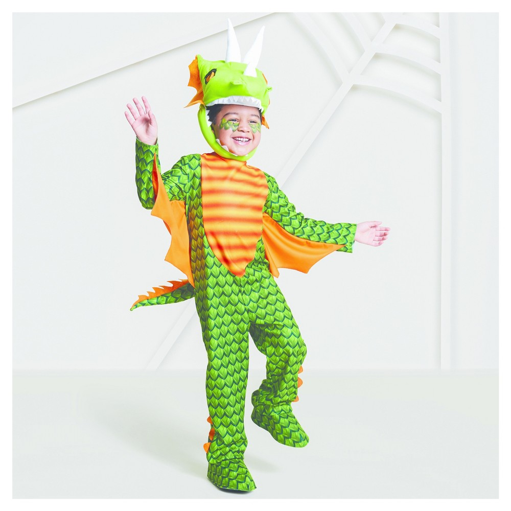 Toddler Boys Dragon Costume 2T-3T - Hyde and Eek! Boutique, Green