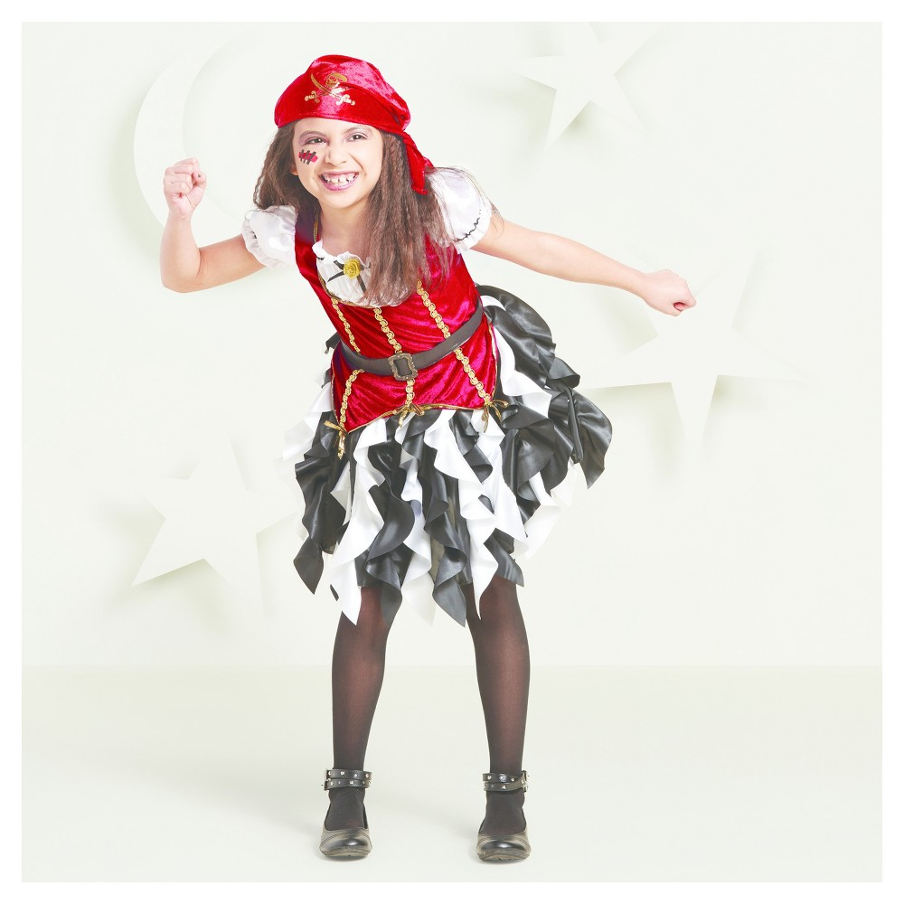 Toddler Girls Pirate Princess Costumes 2T-3T - Hyde and Eek! Boutique, Multicolored