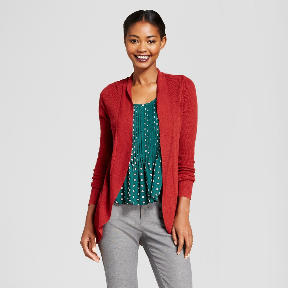 Womens Cocoon Cardigan - A New Day Rust (Red) XS