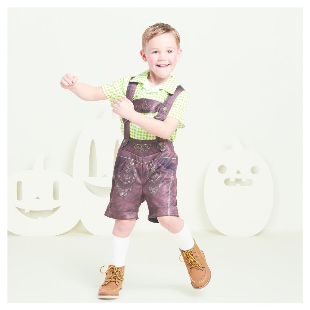 Boys Lederhosen Costume S (4-6) - Hyde and Eek! Boutique, Brown