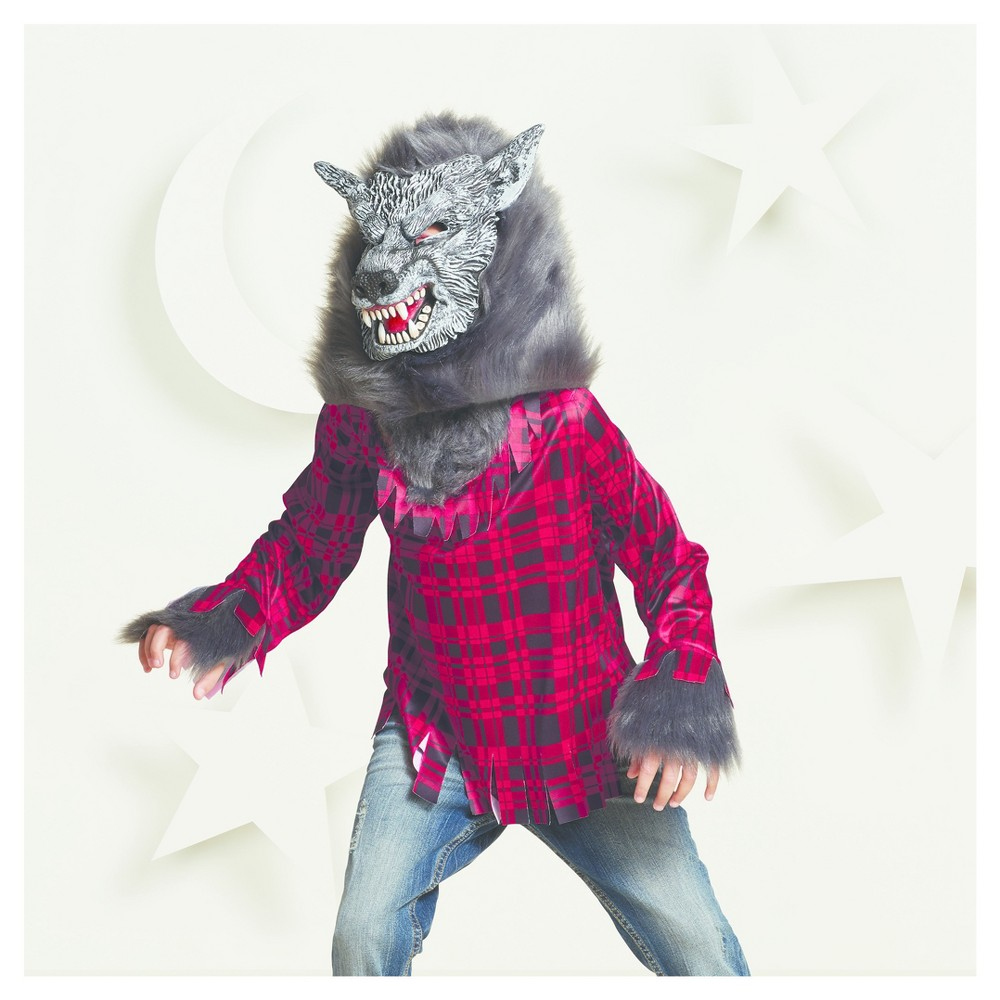 Boys Werewolf Deluxe Wolf Costume M (7-8) - Hyde and Eek! Boutique, Gray