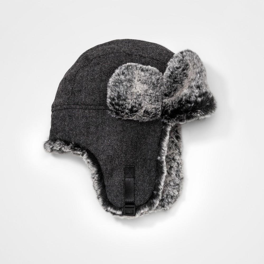 Boys Faux Fur Trapper Hat - Cat & Jack Gray