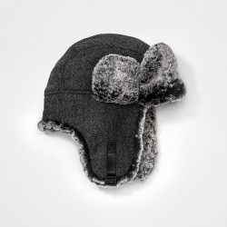 Boys' Faux Fur Trapper Hat - Cat & Jack™ Gray