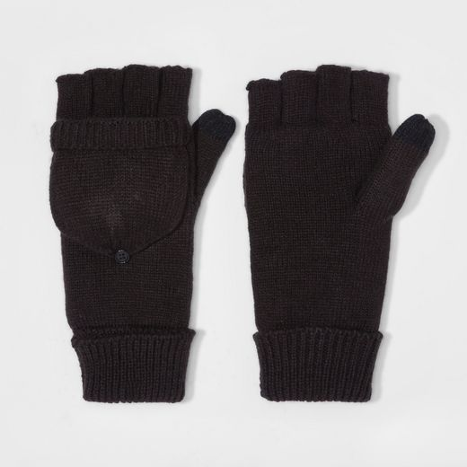 Men's Fold Over Mitten With Fleece Lined - Goodfellow & Co™ Black One Size
