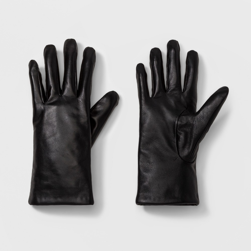 Womens Leather Tech Touch Gloves - A New Day Black X/L, Size: XL