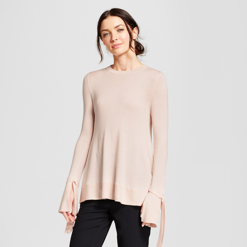 Womens Relaxed Bell Sleeve Any Day Pullover Sweater - A New Day Pink M