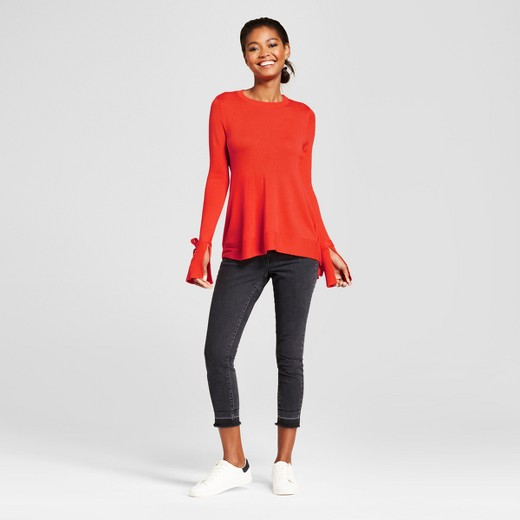 Women's Relaxed Bell Sleeve Any Day Pullover Sweater - A New Day ...